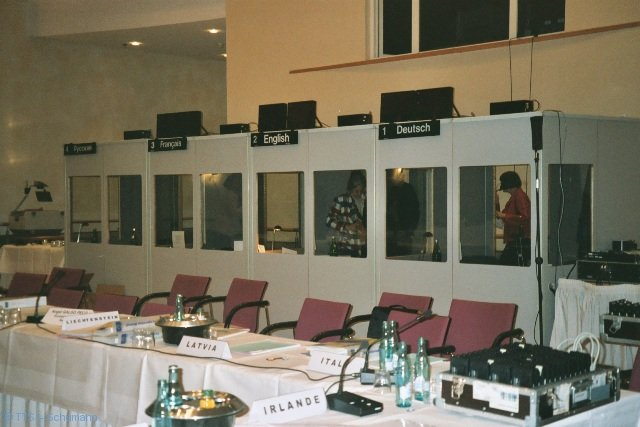 Dolmetscherkabinen Großkonferenz